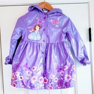 Sofia the First Disney Purple Raincoat 3T